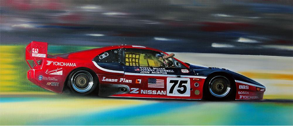 1994 LeMans, 24 Hours - Fourth overall and a class win. Nissan 300ZX   GT<br />Original oil painting.