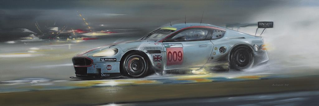 Winner of the LMGT1 class at the 2008 Le Mans 24 hour race.<br />	Original oil painting on Canvas.