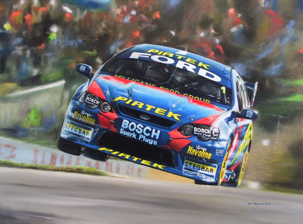 Marcos Ambrose and Russell Ingall - V8 Supercars<br />	Original oil painting on Canvas