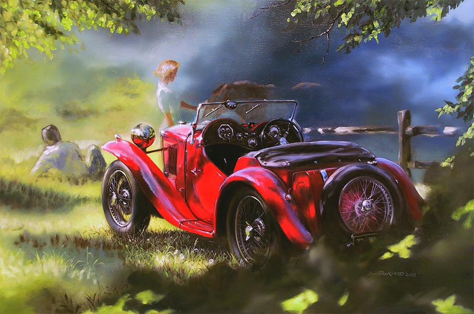 <p>Pee Bee 1936 MG<br /> 	Original Oil on canvas 61cm x 92cm</p>